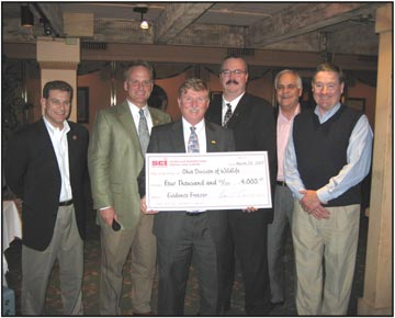Receiving the Check for the Division of Wildlife were keynote speakers Mr. Steve Gray & Ken Fitz.
