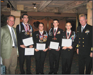 The Central Crossing NJROTC Rifle Team were given their awards at the General Membership meeting by coach Navy Captain Peter MacKay to show their appreciation to our chapter for being their sponsor.